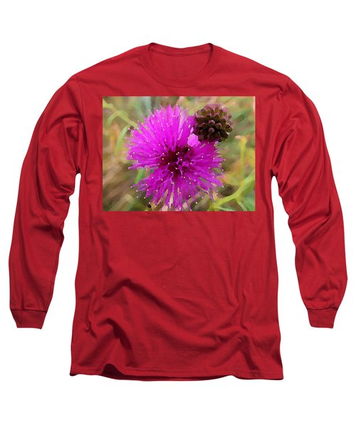 Catclaw Pink Mimosa  Long Sleeve T-Shirt