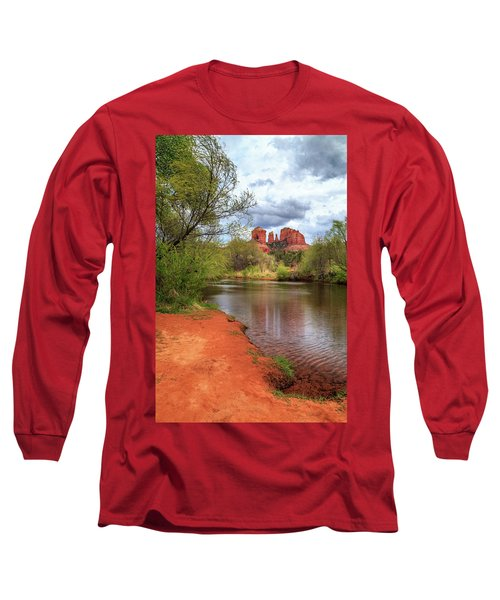 Long Sleeve T-Shirt featuring the photograph Cathedral Rock From Oak Creek by James Eddy