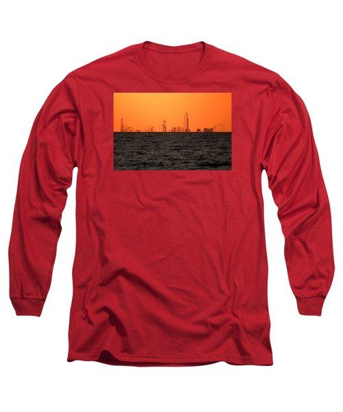 Cedar Point Skyline Long Sleeve T-Shirt by Rob Blair