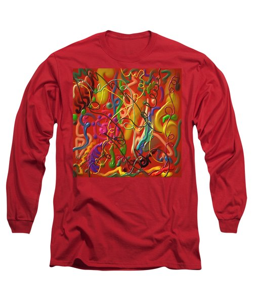 Long Sleeve T-Shirt featuring the painting Celebrate The Moment by Kevin Caudill