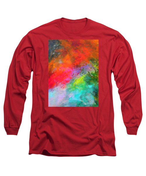 Fantasies In Space Series Painting. Celestial Concerto. Painting.  Long Sleeve T-Shirt