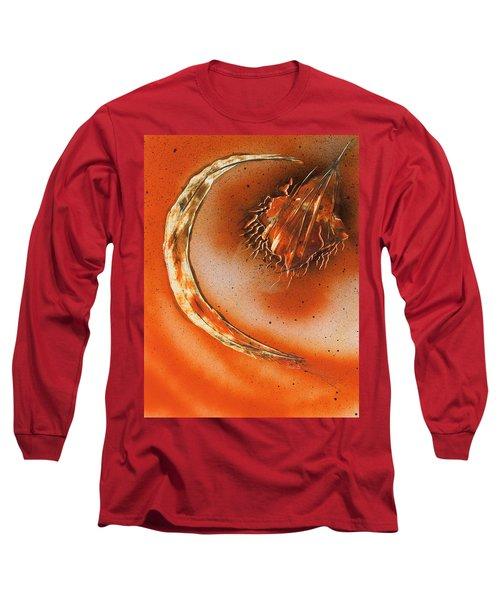 Celestial Crescent Moon Long Sleeve T-Shirt