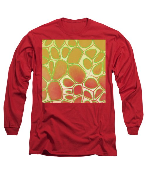 Cells Abstract Five Long Sleeve T-Shirt by Edward Fielding