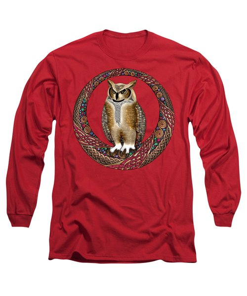Celtic Owl Long Sleeve T-Shirt