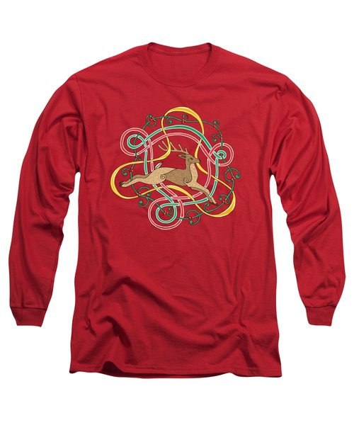 Celtic Reindeer Knots Long Sleeve T-Shirt