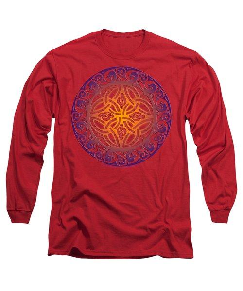 Celtic Shield Long Sleeve T-Shirt by Kristen Fox
