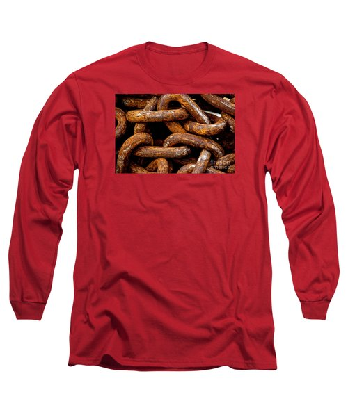 Long Sleeve T-Shirt featuring the photograph Chains  by Gary Bridger