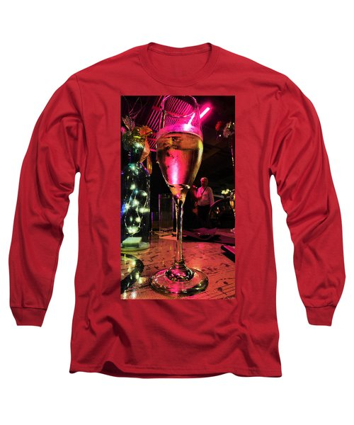 Long Sleeve T-Shirt featuring the photograph Champagne And Jazz by Lori Seaman