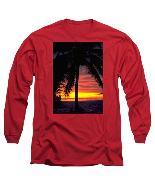 Champagne Sunset Long Sleeve T-Shirt by Travel Pics