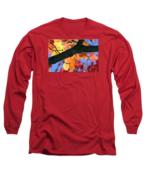Changing Of The Colors Long Sleeve T-Shirt by Mikki Cucuzzo