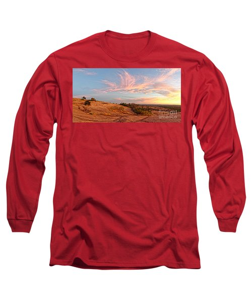 Chasing Angels Of Light Over Enchanted Rock - Fredericksburg Texas Hill Country Long Sleeve T-Shirt