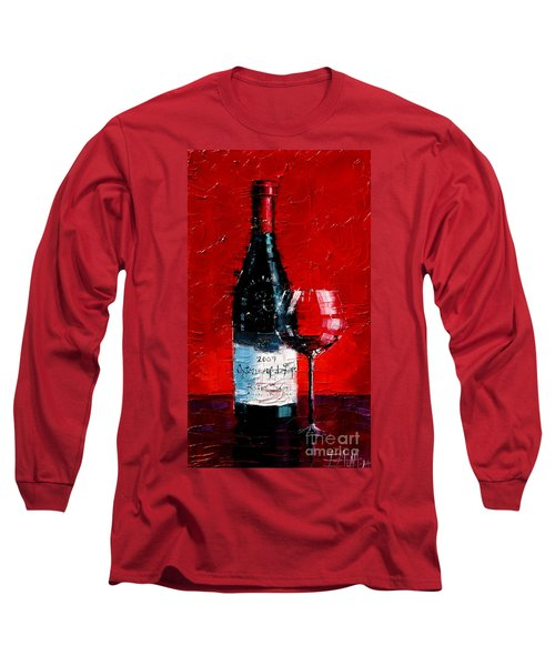Still Life With Wine Bottle And Glass I Long Sleeve T-Shirt