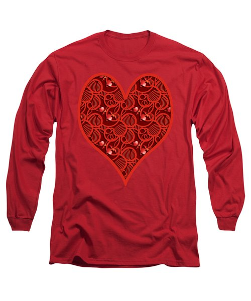 Cherry Tomato Red Hearts Long Sleeve T-Shirt