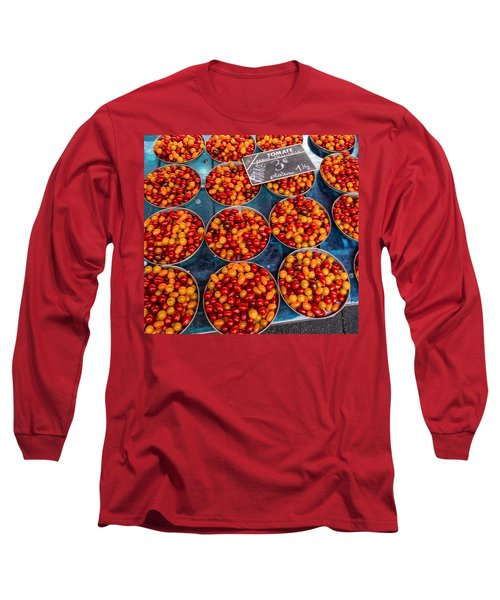 Cherry Tomatoes In Lyon Market Long Sleeve T-Shirt