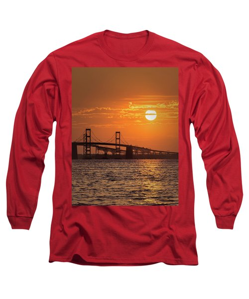 Chesapeake Bay Bridge Sunset II Long Sleeve T-Shirt