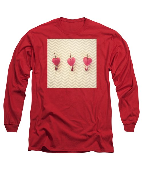 Chevron Hearts Long Sleeve T-Shirt by Robin Dickinson