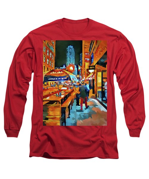 Chicago Night Time Long Sleeve T-Shirt
