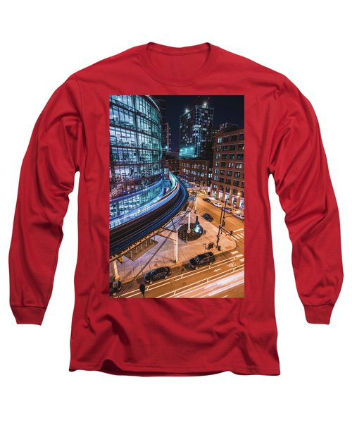 Chicago S Train Long Sleeve T-Shirt