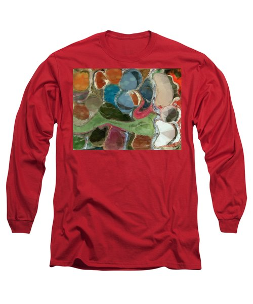 Blue Monks Long Sleeve T-Shirt by Kathie Chicoine