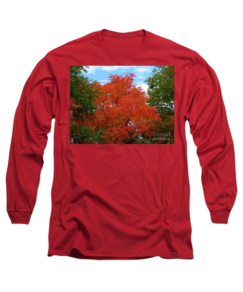 Chinese Pistache Fall Color Long Sleeve T-Shirt