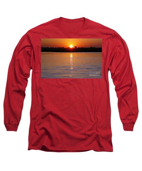 Long Sleeve T-Shirt featuring the photograph Chobe River Sunset by Myrna Bradshaw