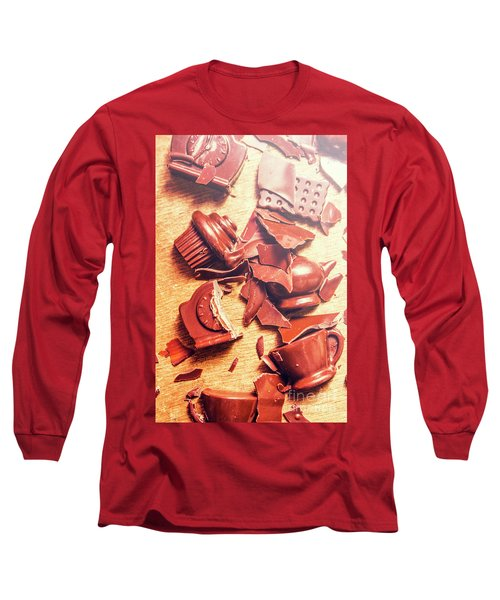 Chocolate Tableware Destruction Long Sleeve T-Shirt