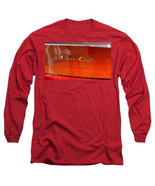 Chris Craft Logo Long Sleeve T-Shirt by Michelle Calkins