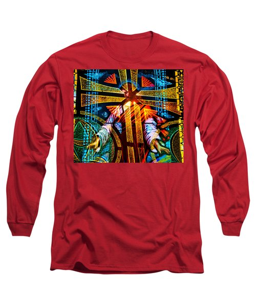 Christ And The Cross Long Sleeve T-Shirt by David Lee Thompson