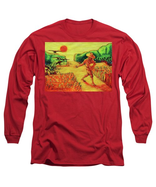 Long Sleeve T-Shirt featuring the painting Christian Art Parable Of The Sower Artwork T Bertram Poole by Thomas Bertram POOLE