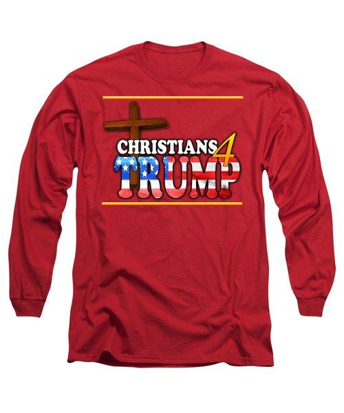 Christians 4 Trump Cross Long Sleeve T-Shirt