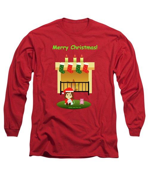 Christmas #4 And Text Long Sleeve T-Shirt