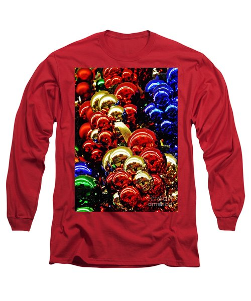 Christmas Abstract 14 Long Sleeve T-Shirt by Sarah Loft