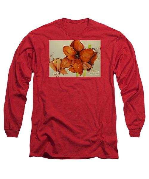 Christmas Amaryllis Long Sleeve T-Shirt
