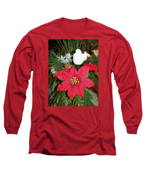 Christmas Centerpiece Long Sleeve T-Shirt by Sharon Duguay