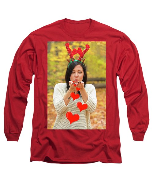 Long Sleeve T-Shirt featuring the photograph Christmas Kisses.. by Nina Stavlund