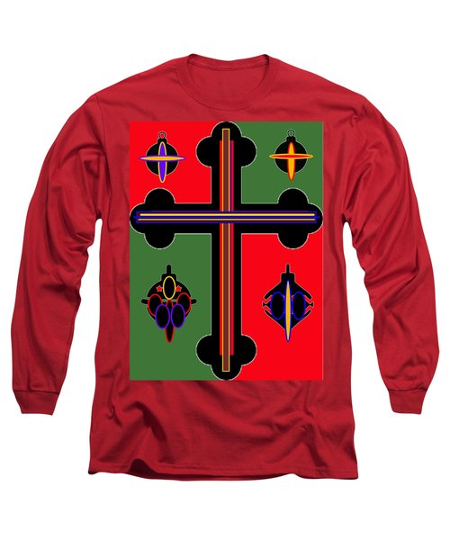 Christmas Ornate 1 Long Sleeve T-Shirt