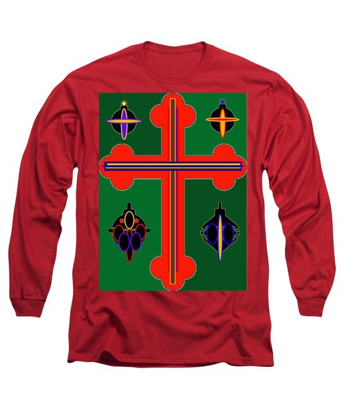 Christmas Ornate 3 Long Sleeve T-Shirt