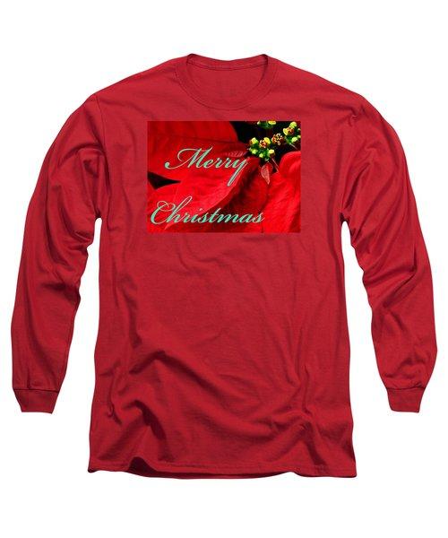 Christmas Poinsettia  Long Sleeve T-Shirt
