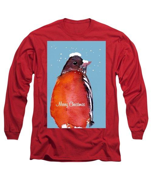 Christmas Robin Long Sleeve T-Shirt