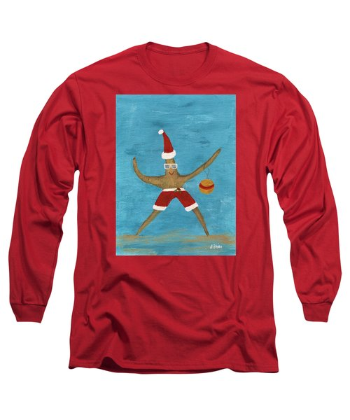Christmas Starfish Long Sleeve T-Shirt by Jamie Frier