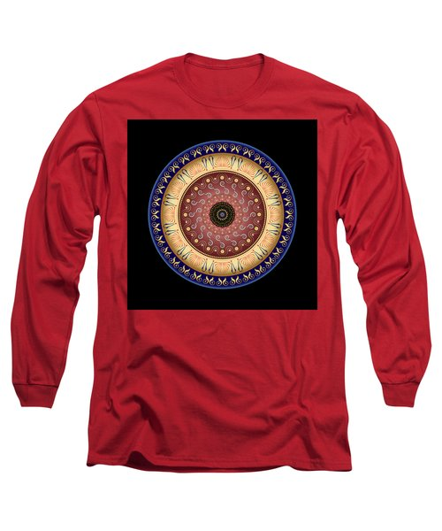 Circularium No 2646 Long Sleeve T-Shirt by Alan Bennington