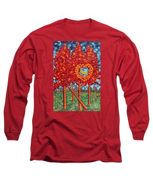 City Moonshine Long Sleeve T-Shirt by Holly Carmichael