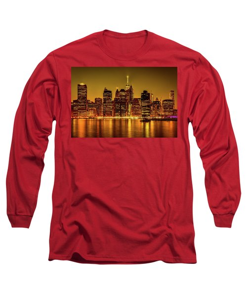 Long Sleeve T-Shirt featuring the photograph City Of Gold by Chris Lord