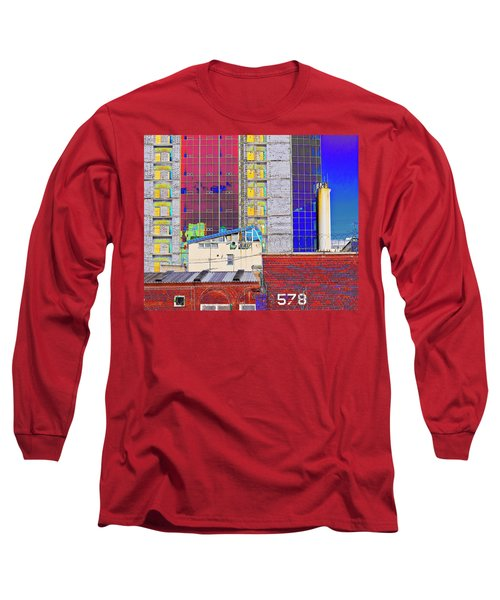 Long Sleeve T-Shirt featuring the photograph City Space by Vladimir Kholostykh