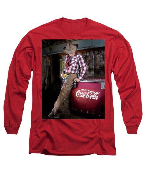 Classic Coca-cola Cowboy Long Sleeve T-Shirt