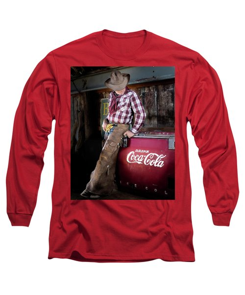 Long Sleeve T-Shirt featuring the photograph Classic Coca-cola Cowboy by James Sage
