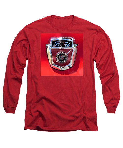 Long Sleeve T-Shirt featuring the photograph Classic Ford Logo by Spyder Webb