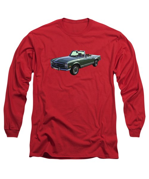 Classic Mercedes Benz 280 Sl Convertible Automobile Long Sleeve T-Shirt by Keith Webber Jr