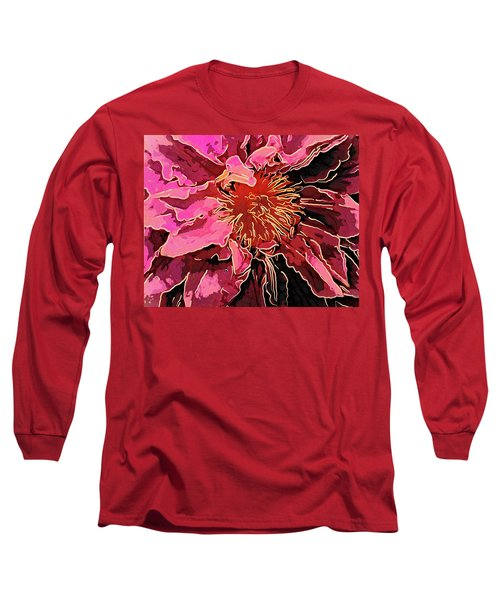 Clematis Up Close And Personal Long Sleeve T-Shirt