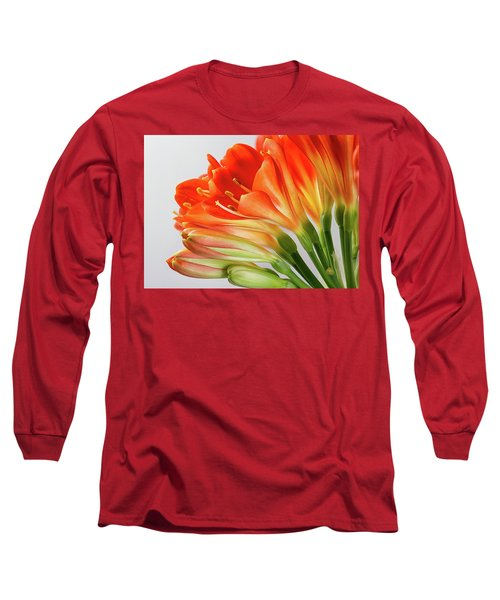 Clivia Miniata 2 Long Sleeve T-Shirt by Shirley Mitchell